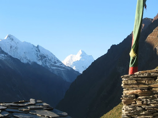 View from Mu Gompa, Tsum, Nepal. Photo courtesy of Kopan Monastery.