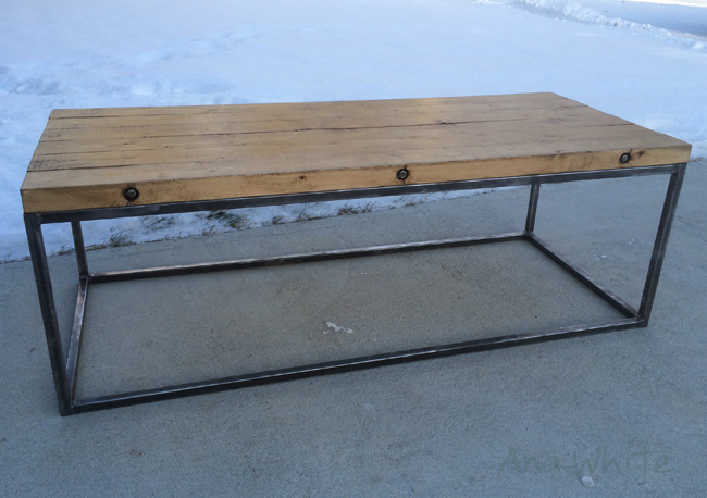 Ana White Industrial Style Tabletop Building DIY Projects - Welded coffee table