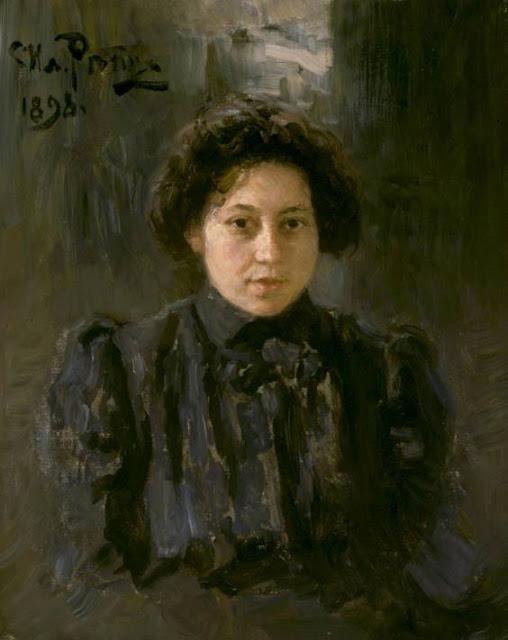 Ilia Repin - Portrait of the artist's daughter Nadezhda