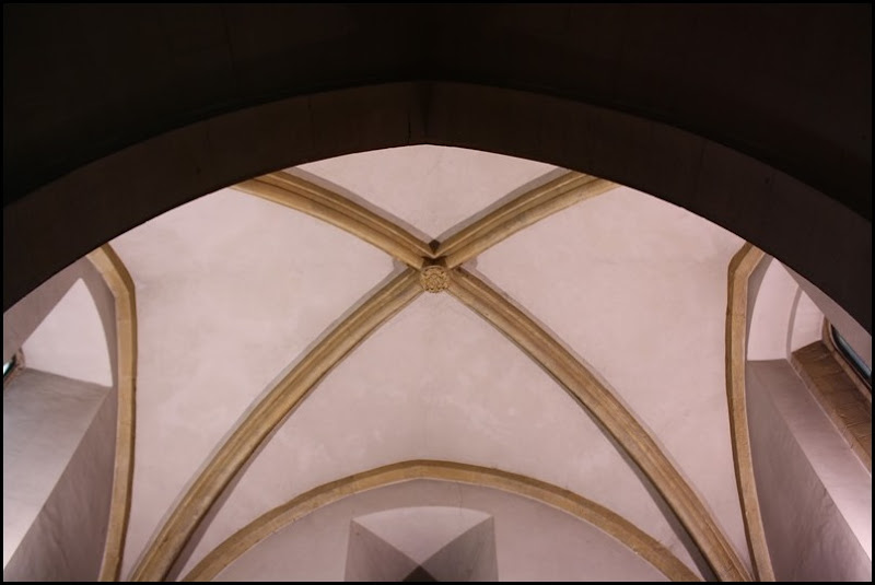 Vaulted ceiling in Presbytery of the Church of St Francis, St Agnes of Bohemia