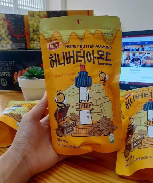 Hạnh nhân tẩm mật ong Hàn Quốc