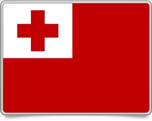 Tongan framed flag icons with box shadow