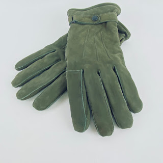 Barbour Olive Green Gloves