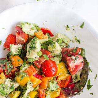 Avocado Bell Pepper Salad.