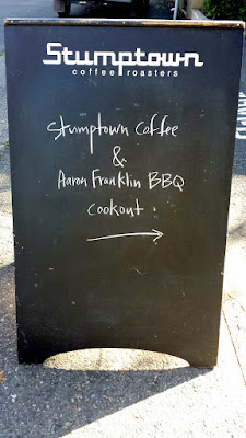Stumptown Coffee & Aaron Franklin BBQ Cookout as part of Feast 2015