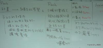 Flash導覽的動畫及按鍵設計