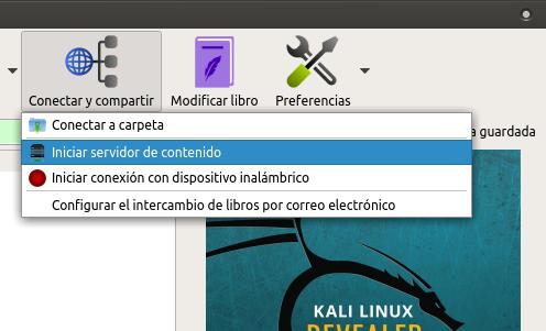 Calibre: El mejor administrador de ebooks en Linux - Conectar/Compartir