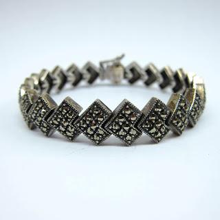 Sterling Silver & Martensite Bracelet