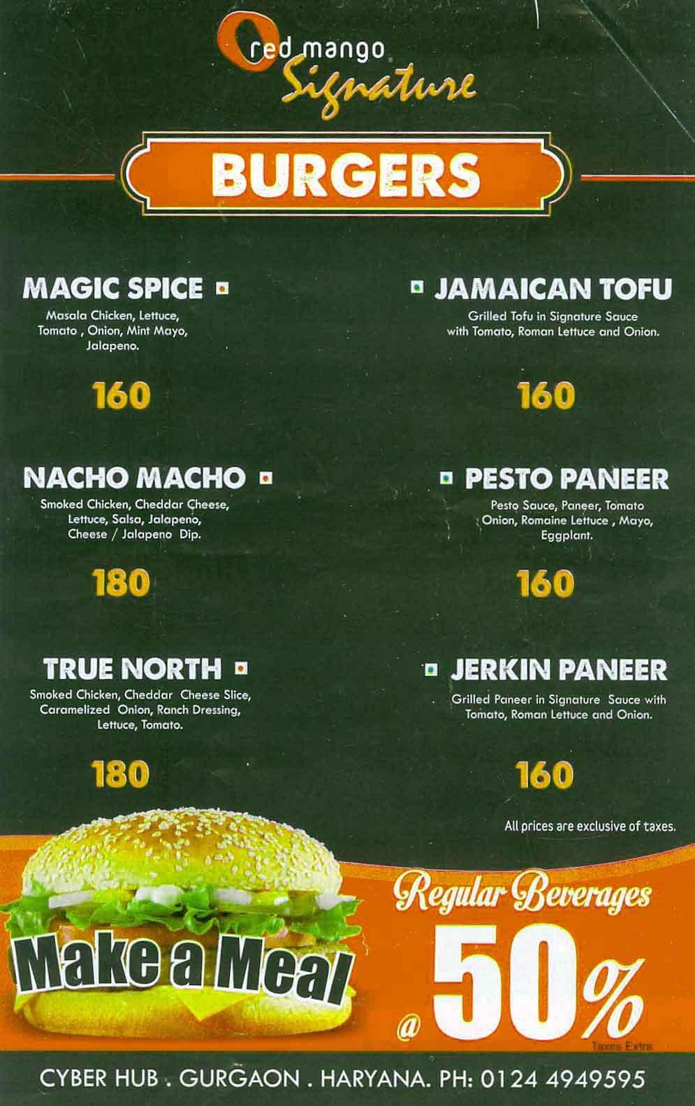 Red Mango menu 8