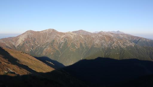Západné Tatry z Baranca, zaujímavé svetlo