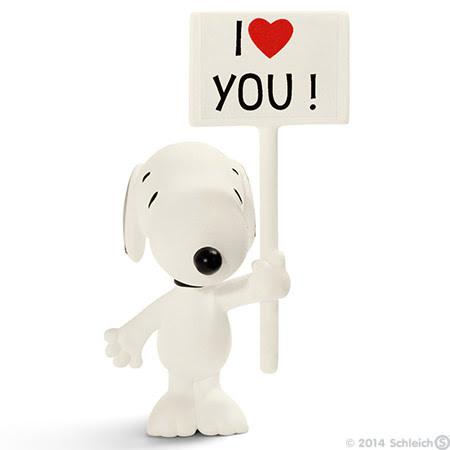 Contenido real de Schleich® 22006 Snoopy I Love You