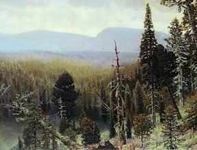 Тайга на Урале. Синяя гора, 1891