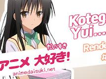 Anime Render Pack 1: Kotegawa Yui