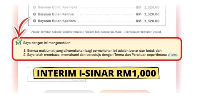 Interim i-Sinar RM1,000: Tarikh Pembayaran Pendahuluan Kategori 2