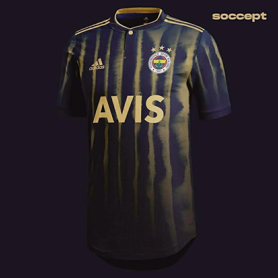 ini adalah gambar foto jersey fenerbahce home konsep adidas musim 2020-2021