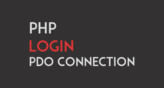 PHP Login System with PDO Connection.