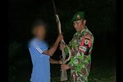 Lagi, Satgas Pamtas RI-RDTL Yonarmed 6/3 Kostrad Terima Senjata Api dari Warga