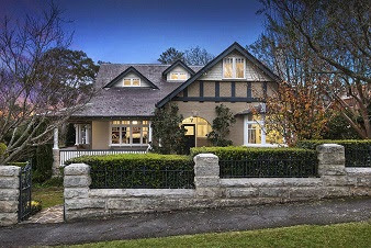 Stately Federation home from Nelson Road, Lindfield