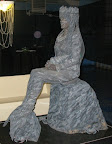 Marbel Mermaid living Statue
