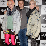 WWW.ENTSIMAGES.COM -  Joey Devries  and  Blonde Electra  at      Fight For Life Christmas party at Hard Rock Cafe, London December 9th 2014Annual festive party hosted by cancer charity in aide of The Fight For Life charity for children with cancer.                                                  Photo Mobis Photos/OIC 0203 174 1069