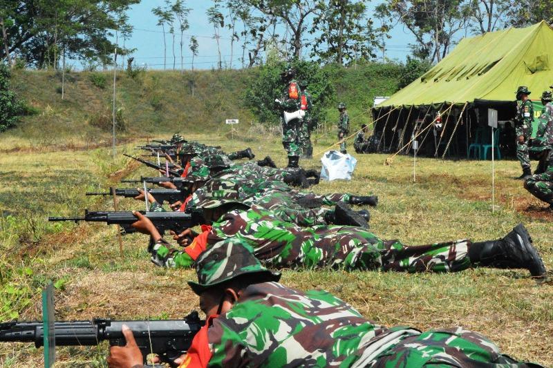 Prajurit Kodim 0713 Brebes Kembali Diasah Menembak Standar Nilai 80
