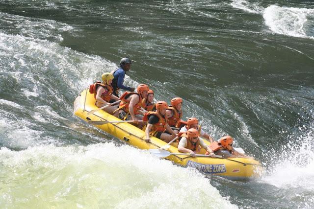 Rafting on the Zambezi