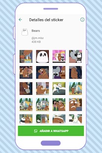 WAStickerApps Bears Funny Screenshot