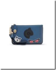 Coach - 57638 - Regent Street Exclusive - Varsity Patches Turnlock Wristlet 21, blue -235GBP