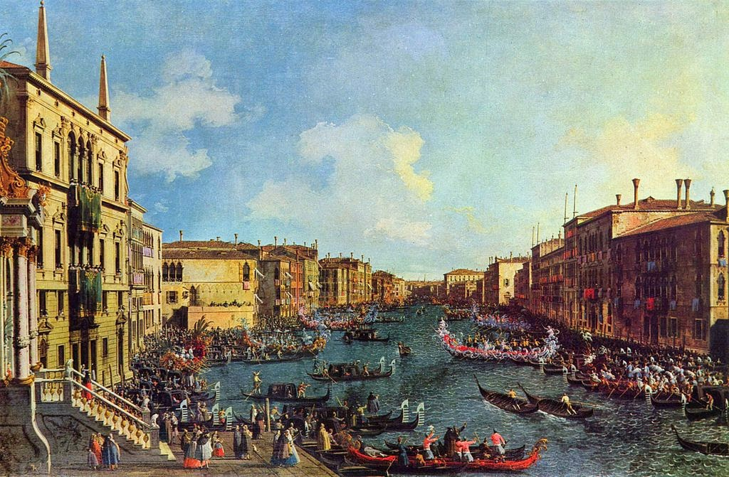 Canaletto - A Regatta on the Grand Canal. circa 1740