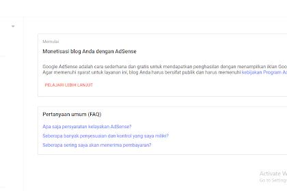 Monetisasi blog dengan google adsense tapi keluar keterangan PELAJARI LEBIH LANJUT