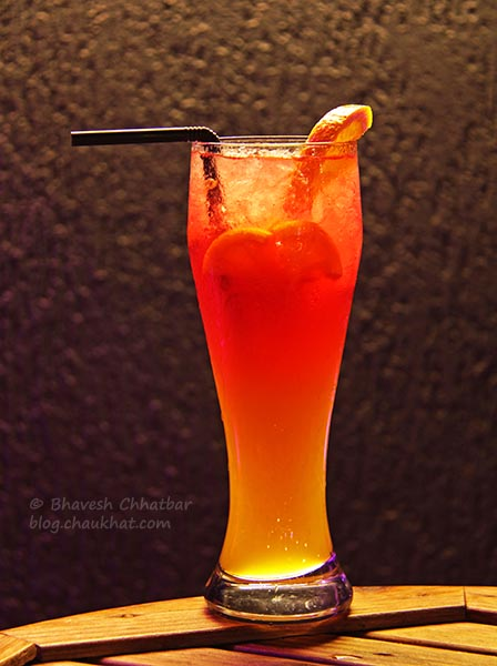 Safe Sex on the Beach Mocktail at The Flying Saucer Sky Bar, Viman Nagar, Pune