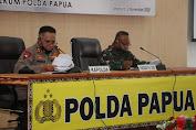 Kapolda Papua Didampingi Pangdam Gelar Press Release Penanganan Perkara Penembakan (Alm). Pendeta Yeremia Zanambani