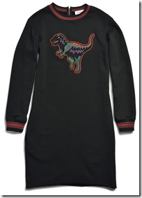 55004 Varsity T-Rex Sweatshirt Dress - BKRD