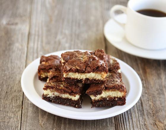 photo of Tiramisu Brownies on a plate