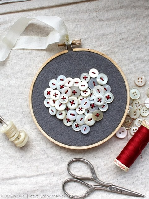Vintage Button Heart  (10)[4]