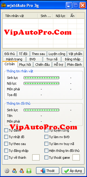 WjxtdAuto Pro Test 3I Auto Login + Auto Train + Auto PK Phiên Bản 3.1.0