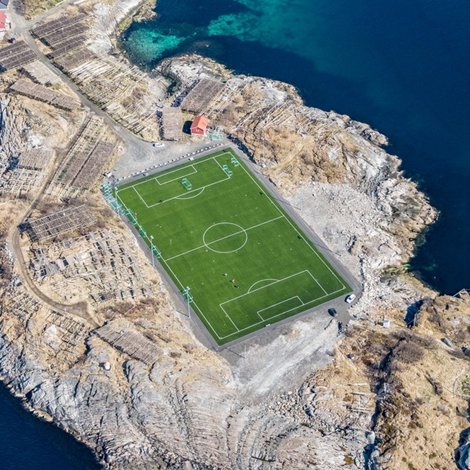 This Football Stadium in Henningsvær