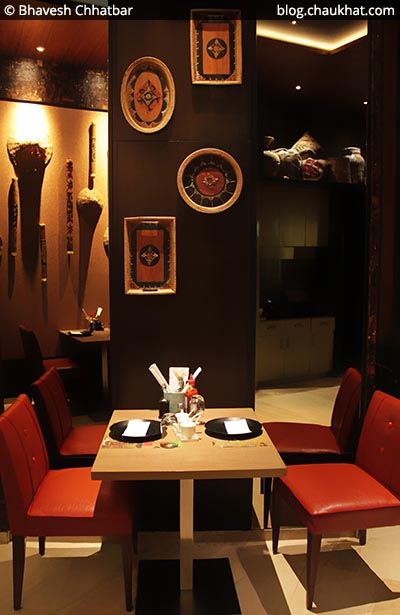 Indoor seating for 4 at Shizusan (The Asian Bistro) in Phoenix Market City at Viman Nagar area of Pune