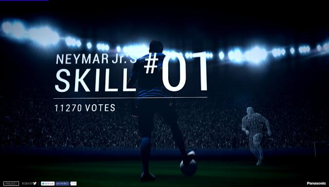 Neymar Jr. CRAZY SKILLS スタート画面