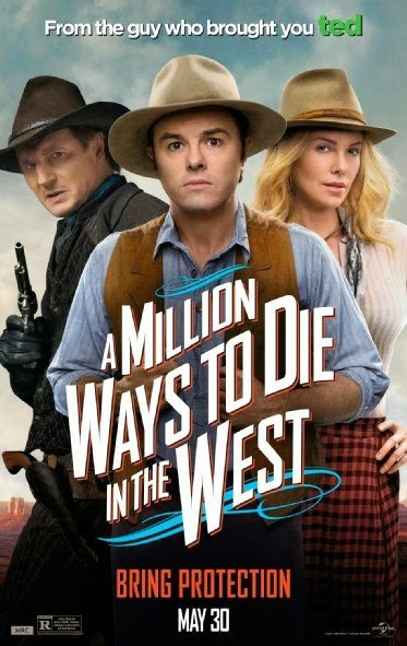 Poster Of English Movie A Million Ways to Die in the West (2014) Free Download Full New Hollywood Movie Watch Online At alldownloads4u.com
