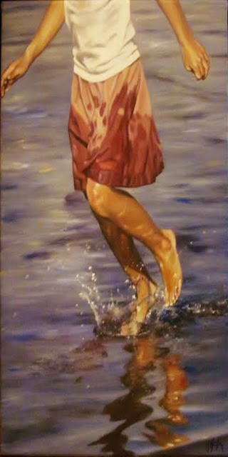 Falda mojada,pintura al óleo de Marta Astrain