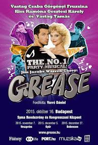 Website design, arculattervezés, weboldal készítés és reklám  plakát tervezés a Grease Musical-nek.