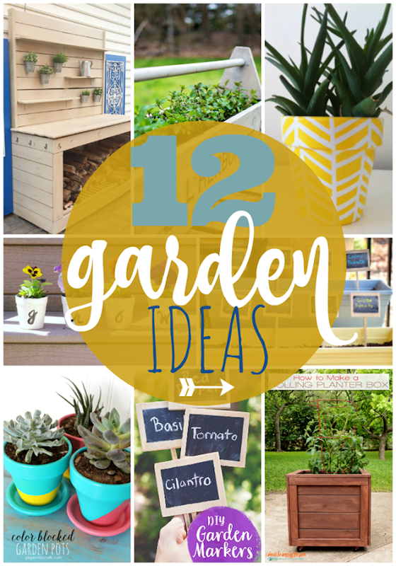 12 Garden Ideas at GingerSnapCrafts.com #garden #forthehome