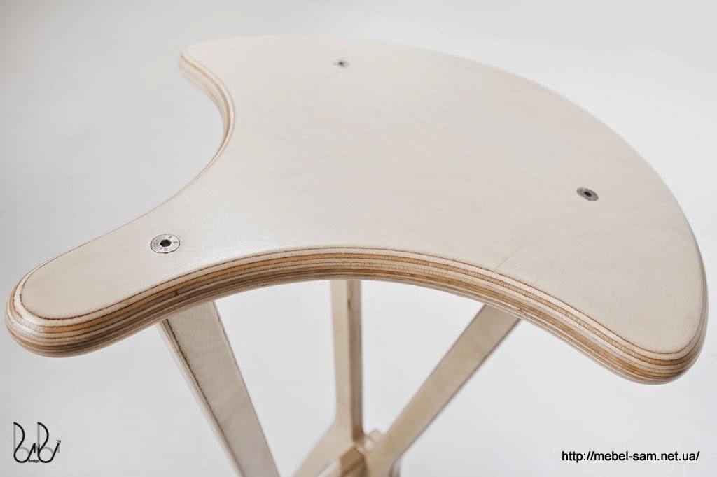 Сиденье барного стула крупным планом
