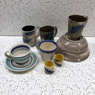 Handmade Signed Cup Lot by Polly