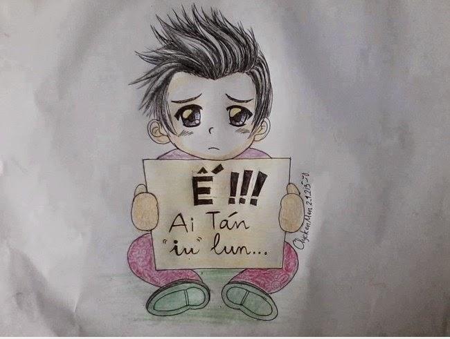 Ảnh hoạt hình thanh niên FA cute