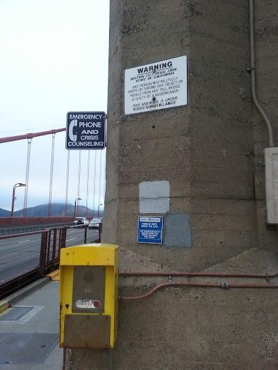 Телефон психологов на мосту Золотые Ворота