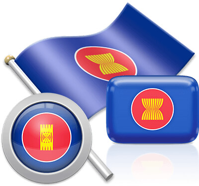 ASEAN flag icons pictures collection