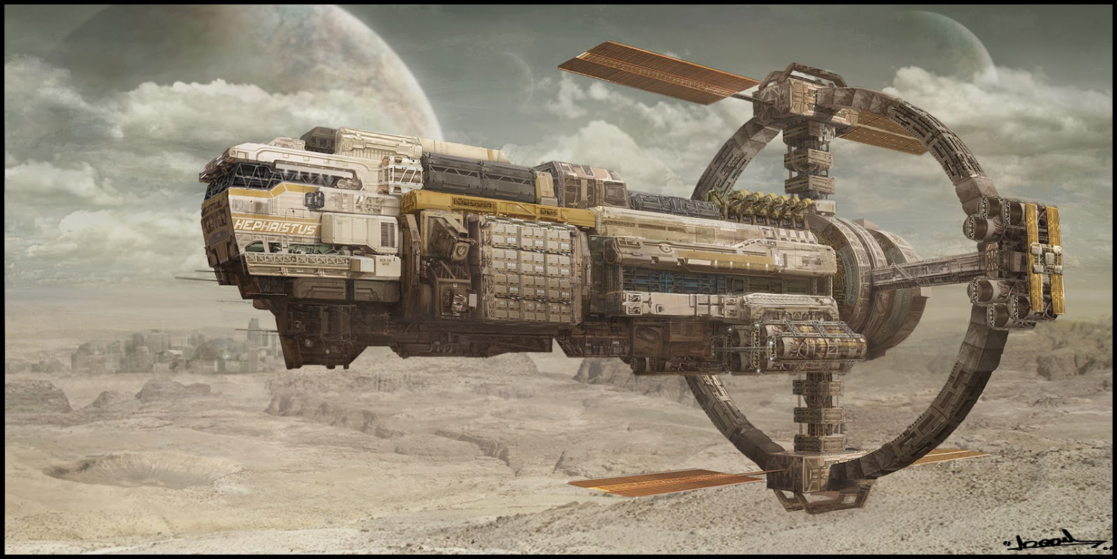 space freighter concept art
