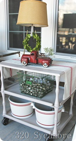 cart on front porch